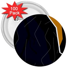 Digital abstraction 3  Buttons (100 pack)
