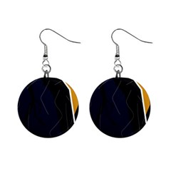 Digital abstraction Mini Button Earrings