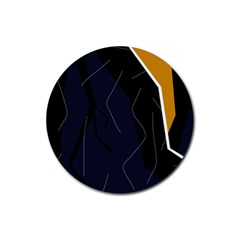 Digital abstraction Rubber Coaster (Round)