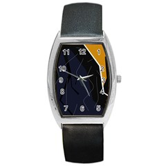 Digital abstraction Barrel Style Metal Watch