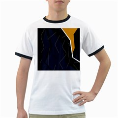 Digital abstraction Ringer T-Shirts