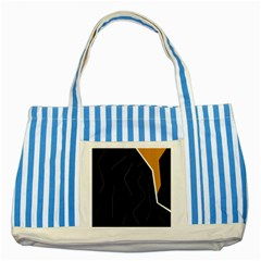 Digital abstraction Striped Blue Tote Bag
