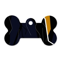 Digital abstraction Dog Tag Bone (Two Sides)