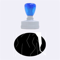 Digital abstraction Rubber Oval Stamps