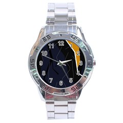 Digital abstraction Stainless Steel Analogue Watch