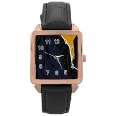 Digital abstraction Rose Gold Leather Watch