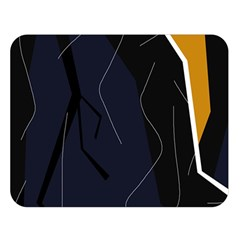 Digital abstraction Double Sided Flano Blanket (Large)