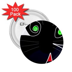 Big cat 2.25  Buttons (100 pack)
