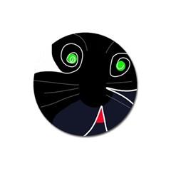 Big cat Magnet 3  (Round)