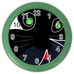 Big cat Color Wall Clocks