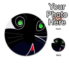 Big cat Multi-purpose Cards (Round)