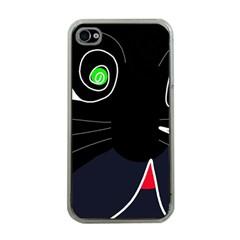 Big cat Apple iPhone 4 Case (Clear)