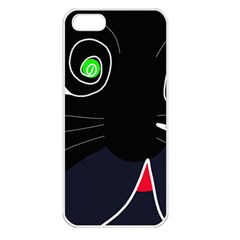 Big cat Apple iPhone 5 Seamless Case (White)