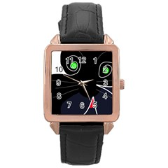 Big cat Rose Gold Leather Watch