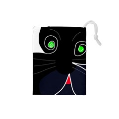 Big cat Drawstring Pouches (Small)