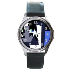Glacier Round Metal Watch