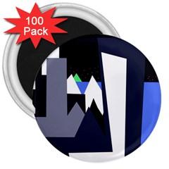 Glacier 3  Magnets (100 pack)