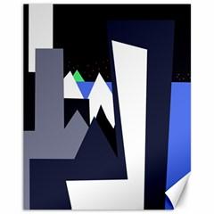 Glacier Canvas 11  x 14
