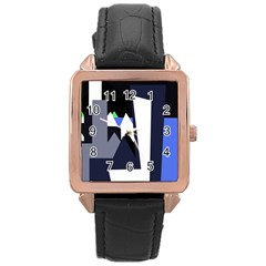 Glacier Rose Gold Leather Watch