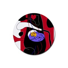 Love Rubber Round Coaster (4 pack)