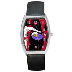 Love Barrel Style Metal Watch
