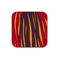 Fire Rubber Coaster (Square)