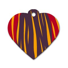Fire Dog Tag Heart (One Side)