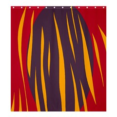 Fire Shower Curtain 66  x 72  (Large)