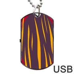 Fire Dog Tag USB Flash (One Side)