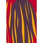 Fire Ribbon 3D Greeting Card (7x5) Inside