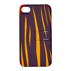Fire Apple iPhone 4/4S Hardshell Case with Stand