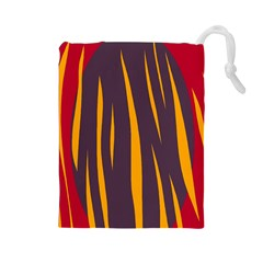 Fire Drawstring Pouches (Large)