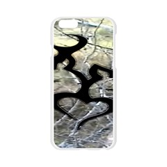 Black Love Browning Deer Camo Apple Seamless iPhone 6/6S Case (Transparent)
