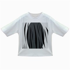 Gray, black and white design Infant/Toddler T-Shirts