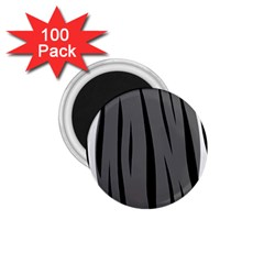 Gray, black and white design 1.75  Magnets (100 pack)