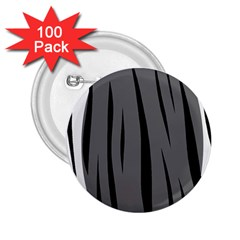 Gray, black and white design 2.25  Buttons (100 pack)