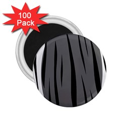 Gray, black and white design 2.25  Magnets (100 pack)