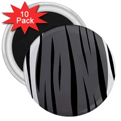 Gray, black and white design 3  Magnets (10 pack)
