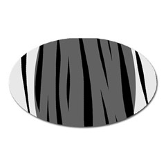 Gray, black and white design Oval Magnet
