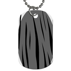 Gray, black and white design Dog Tag (Two Sides)