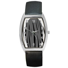 Gray, black and white design Barrel Style Metal Watch