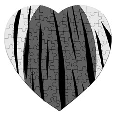 Gray, black and white design Jigsaw Puzzle (Heart)