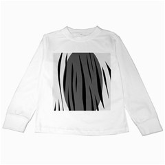 Gray, black and white design Kids Long Sleeve T-Shirts