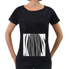 Gray, black and white design Women s Loose-Fit T-Shirt (Black)