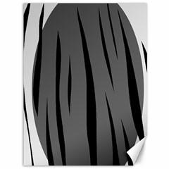 Gray, black and white design Canvas 36  x 48