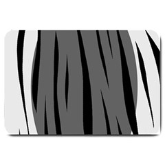 Gray, black and white design Large Doormat