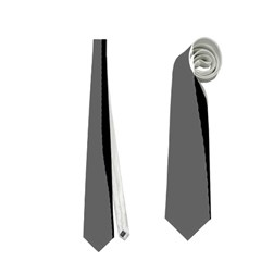 Gray, black and white design Neckties (One Side)