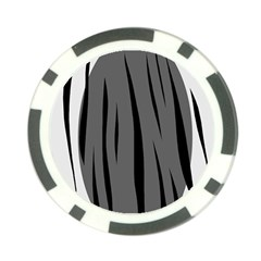 Gray, black and white design Poker Chip Card Guards