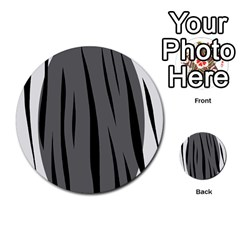 Gray, black and white design Multi-purpose Cards (Round)