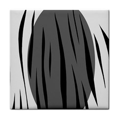 Gray, black and white design Face Towel